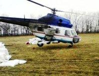 Внесение аммиачной селитры вертолетом и самолетом Ан-2